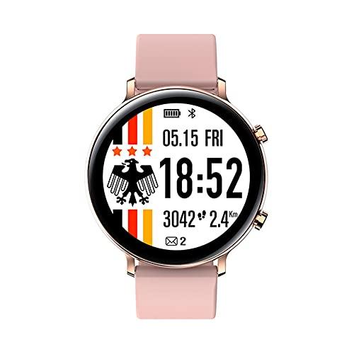 XJPB Smart Watch, compatible con teléfonos Android y iOS, IP68, impermeable, monitor de actividad física, monitor de frecuencia cardíaca, reloj inteligente para hombres y mujeres, color rosa