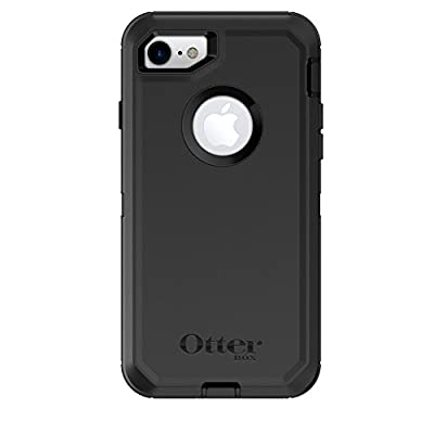 OtterBox DEFENDER SERIES Case for iPhone SE (2nd gen) and iPhone 8/7 (NOT PLUS) - Retail Packaging - BLACK
