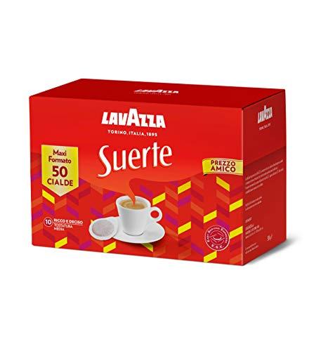 Lavazza Suerte - Caffè Macinato Espresso In Cialde in Carta, 1 Confezione da 50 Cialde
