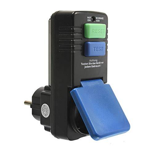 as - Schwabe Personenschutz-Zwischenstecker 30 mA – Schuko 230 V, 16 A max. 3500 W Leistung – Personenschutz-Stecker zum Schutz vor Stromschlägen - Funktionsanzeige und Testschaltung – IP44 I 45230