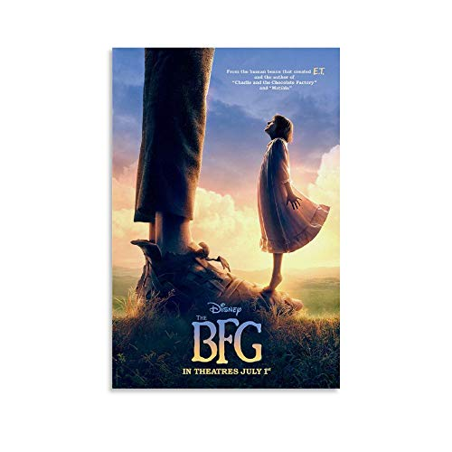 YANDING The BFG Poster, Filmposter, dekoratives Gemälde, Leinwand, Wandkunst, Wohnzimmer, Poster, Schlafzimmer, Malerei, 20 x 30 cm