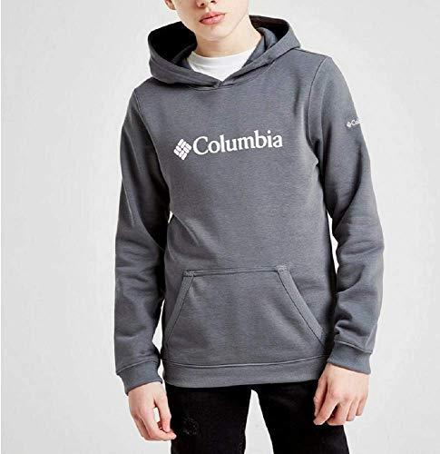 Columbia Sweat à Capuche avec Logo CSC Basic Youth pour garçon XS Graphite