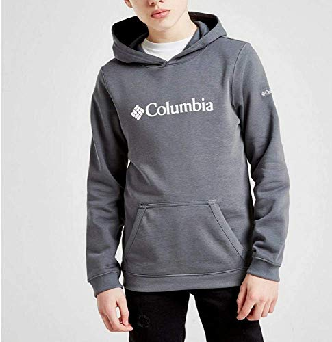 Columbia CSC Basic Logo Youth Sudadera con Capucha, Niños, Gris Grafito, Medium