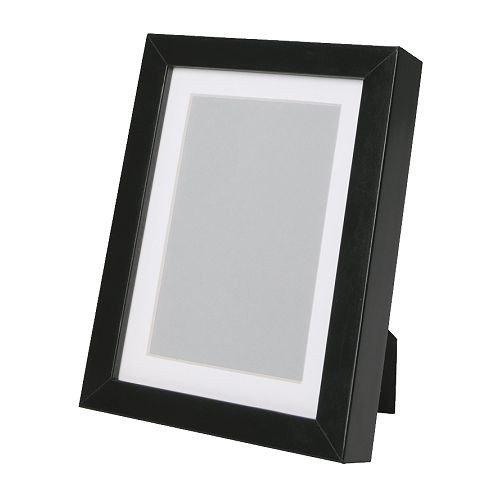 IKEA RIBBA Rahmen in schwarz; (21x30cm)