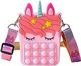 TIANLE Unicorn Pop Toy Bolsos de Hombro, Fidget Sensorial Toy Bag, Fashion Creative Diagonal Bag, Hand Toys Bag, Stress Relief