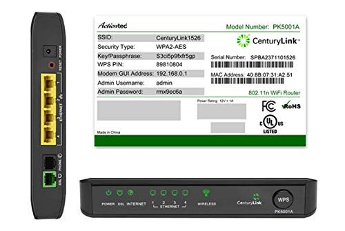 CenturyLink Actiontec PK5001A ADSL2/2+ Modem & Wireless N Router (Renewed)