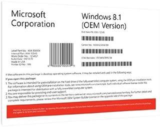 Microsoft Windows 8.1 Pro - Sistemas operativos (Original Equipment Manufacturer (OEM), DEU, DVD)