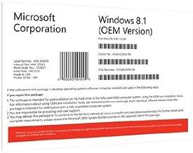Windows 8.1 Professional 64-Bit Pro OEM Full Version DVD and COA License