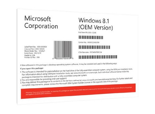 Windows 8.1 Pro OEM 64 Bit Vollversion