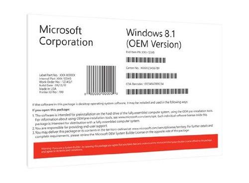 Windows 8.1 Pro OEM 64 Bit Vollversion [import allemand]