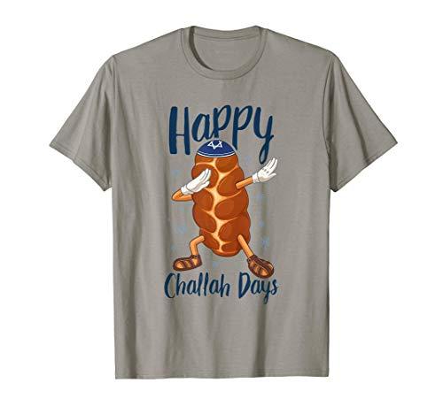 Hanukkah Dabbing Challah Bread Funny Happy Challah Days Pun T-Shirt