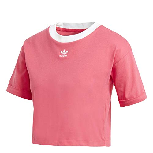 adidas Originals Cropped Tee Power Pink/White MD