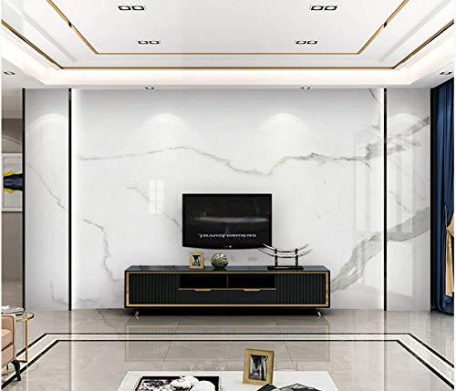 Schlanke, minimalistische Wohnwand aus weißem Marmor mit Jazzmuster, Seitenwandpapier, 250 cm * 140 cm