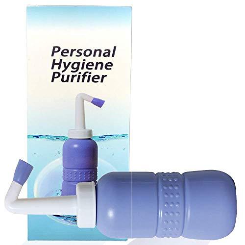 Tragbarer Bidet-Sprayer, Reise-Bidet-Flasche für persönliche Hygiene, Handgerät, Bidet-Spray ohne Druckluft, Flasche mit Wischer, 450 ml