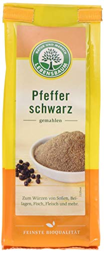 Lebensbaum Pfeffer Schwarz, gemahlen, 50g