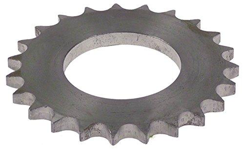 Comenda tandwiel voor vaatwasser, afmeting 1/2 inch 23 tanden hoogte 7 mm, asopname 49 mm voor as ø 49 mm