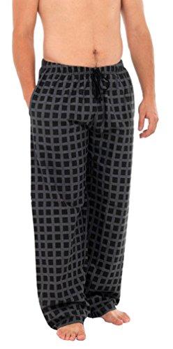 I-Smalls Pantalon de Pyjama Moderne à Carreux Homme (Noir) M