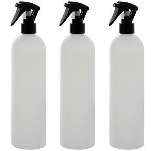 Leere Sprühkopf-Flasche 500ml, Kosmetex Sprühflasche, Plastik, zylindrisch, halbtransparent, 3 x 500ml