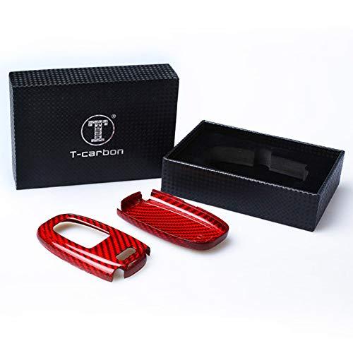 『アウディ リアルカーボン製 高級スマートキーケース キーカバー TT R8 A3 S3 A4 8K A5 8T S5 A6 S6 C7系 A7 S7 A8 Q5 SQ5 Q7(赤)』の4枚目の画像
