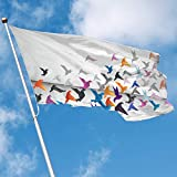 YUANSHAN Home Garden Flag Peace Birds Polyester Flag Indoor/Outdoor Wall Banners Decorative Flag 3' X 5'