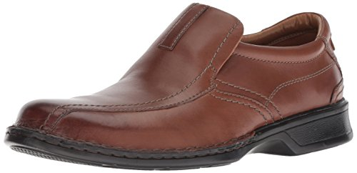 Clarks Men's Escalade Step Slip-on Loafer- Brown Leather 8 D(M) US