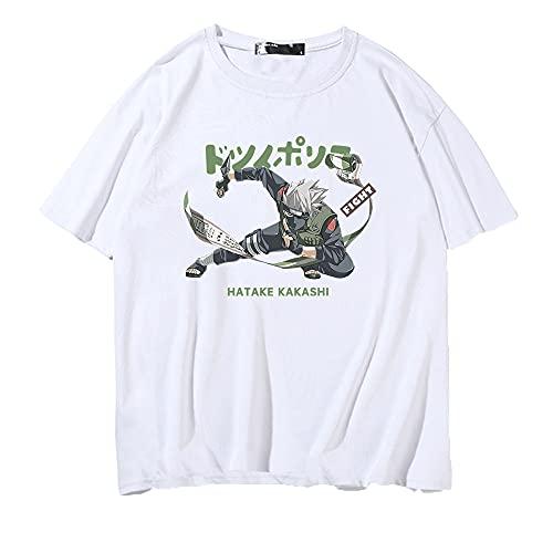 SHIQI-DYMX Naruto Camiseta De Hombre Manga Corta Geometría Impresa Camiseta De Hombre O-Cuello Camiseta Suelta Fresca,XXL