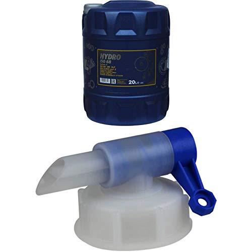 20 Liter MANNOL Hydrauliköl Hydro ISO 68 HM HLP DIN 51524 US STEEL 126/127 Oil