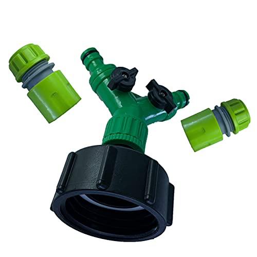 Sharplace Conector del Grifo de La Manguera del Adaptador del Tanque del Totalizador de IBC - Verde Claro, 2 Grifo de conexión rápida