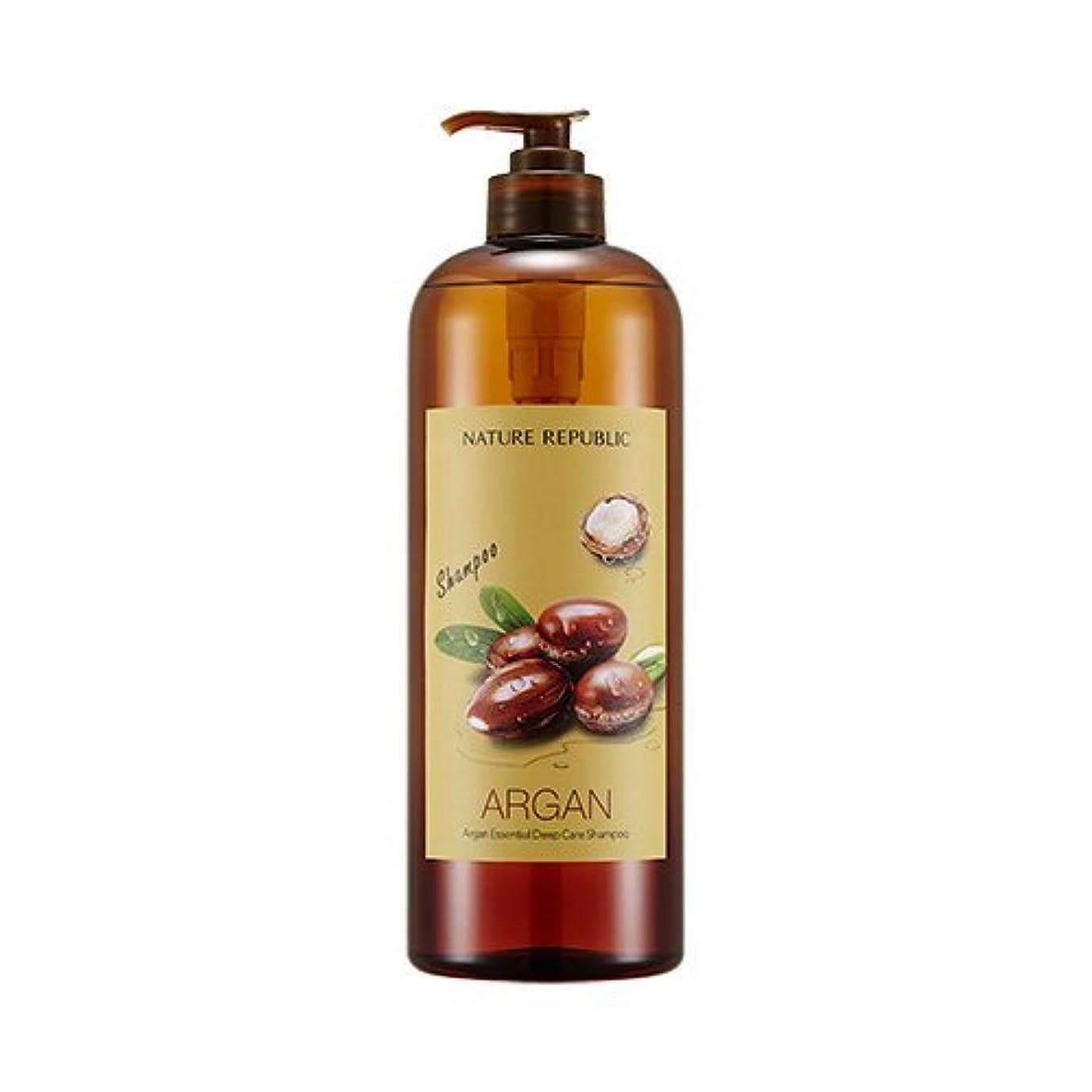 恐怖オリエンタル流行しているNATURE REPUBLIC Argan Essential Deep Care Shampoo 1000? ネイチャーリパブリック アルガンエッセンシャルディープケアシャンプー(大容量) [並行輸入品]