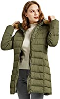 Orolay Women's Thickened Winter Down Coat Quilted Puffer Jacket with Fur Hood