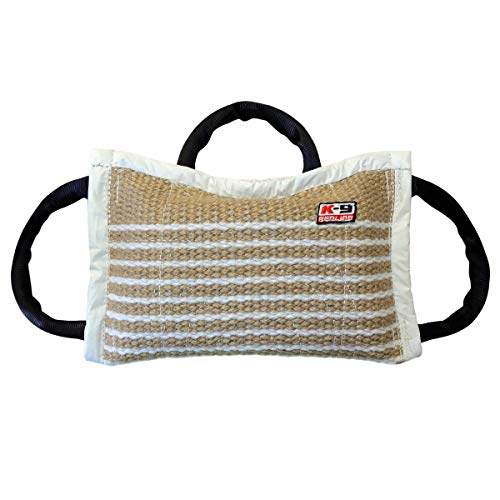 "Redline K9 3 Handle Jute Bite Pillow/Gusset Firm 15"" X 9.5"""