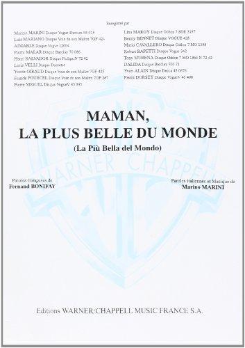 Mariano Luis Maman La Plus Belle Du Monde Voice & Piano Book