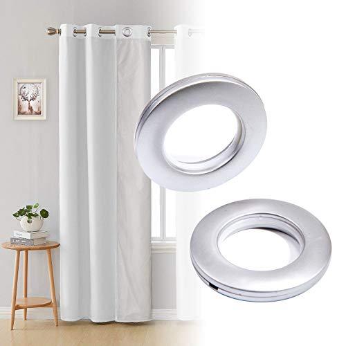 SurePromise 10x Round Shape Plastic Curtain Eyelet Ring 40mm (Silver)