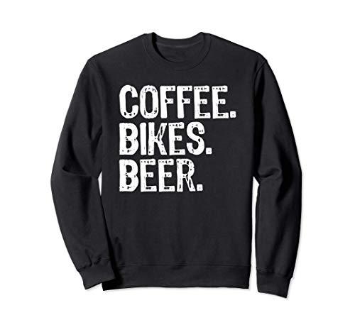 Coffee. Bikes. Beer. Funny MTB Cycling Gift Sweatshirt
