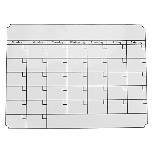 NEYOANN A3 Pizarra Blanca Planificador Mensual Tablero de Mensajes MagnéTicos Cocina BoletíN Diario Flexible Tableros de Notas Nevera ImáN Calendario de Dibujo Blanco