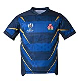 KIND CY Rugby Maillot 2019 Polo Shirt Hommes Rugby Jersey Casual Survêtements Football Soccer T-Shirt Maillot De Rugby Chemise À Manches Courtes,L-Japan-Blue,5XL