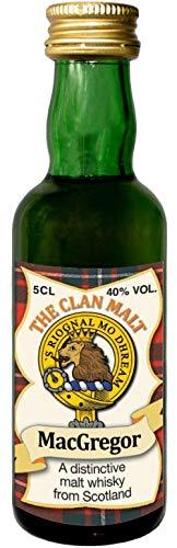 MacGregor Clan Crest Malt Whisky Miniaturflasche, Hergestellt in Schottland