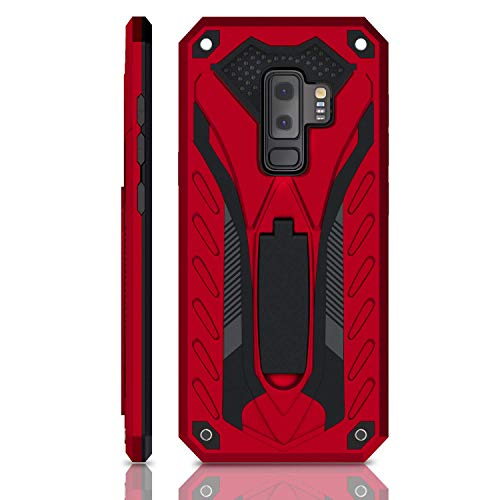 Samsung Galaxy S9 Plus Case | Military Grade | 12ft. Drop Tested Protective Case | Kickstand | Wireless Charging | Compatible with Galaxy S9 Plus - Red