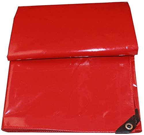 ZHPBHD Lona Lona Tierra Sheet Covers Carpa Espesar Impermeable Cortina del Sol al Aire Libre, Multi Tamaños, 650G / M² Lona (Color : Red, Size : 3x3m)