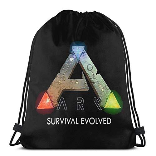 ARK Survival Evolved Kordelzug Tasche Sport Gym Sack Shopping Travel Folding Schulterrucksack Muster Männer & Frauen