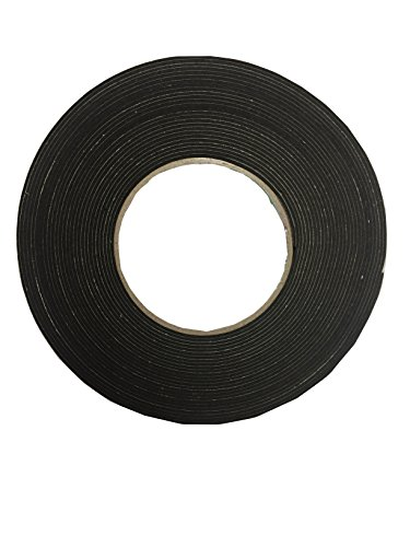 【K-mall】防音 遮音 隙間 テープ パッキン 発砲ゴム【粘着つき】1巻 厚さ1.5mm 幅2cm 長さ10メートル (1)