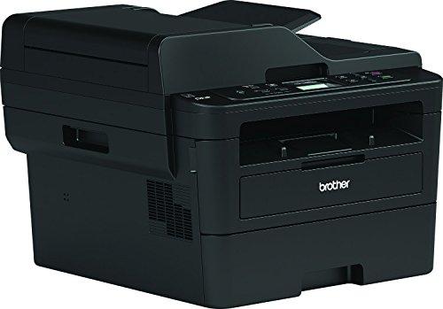 Brother DCPL2550DN - Impresora multifunción láser monocromo con red cableada, impresión automática a doble cara y ADF de 50 hojas (34 ppm, USB 2.0, procesador de 600 MHz, memoria de 128 MB), Negro
