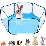 gabbie per piccoli animali,box per piccoli animali per criceti,animali portatile tenda a gabbia pieghevole,per piccoli animali per criceti, porcellini d'india, ricci, conigli, gatti, cani (blu)