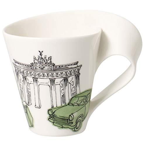 Villeroy und Boch Cities of the World Kaffeebecher Berlin, Premium Porzellan, mehrfarbig grün