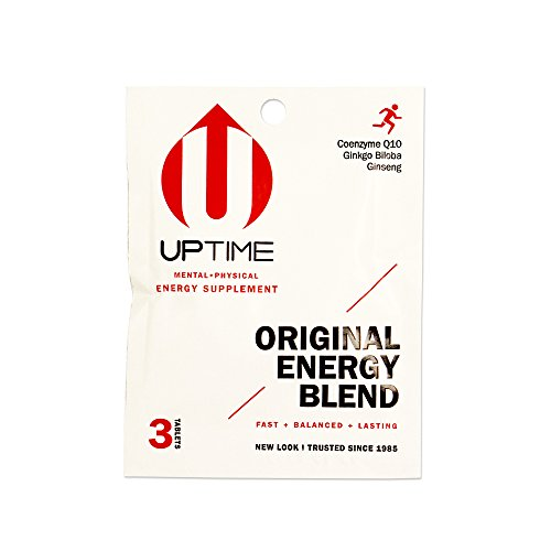 UPTIME - Premium Energy Supplement - Original Blend Tablets - 3ct. Packet (Case of 24 Packs) - Zero Calories