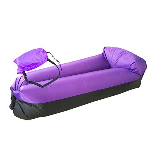 Rubyu Waterdichte opblaasbare sofa, draagbaar, strandsofa, slaapzak met draagtas en geïntegreerde Oxford kussen, zitzak voor binnen en buiten