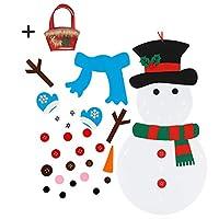IL PACCHETTO COMPRENDE-1 set di pupazzi di neve di Natale in feltro fai-da-te + 31 pezzi di ornamenti.Grande per decorazioni natalizie + 1 confezione Grande borsa regalo di Natale, un'aggiunta perfetta alle vacanze e una finitura decorativa per la tu...
