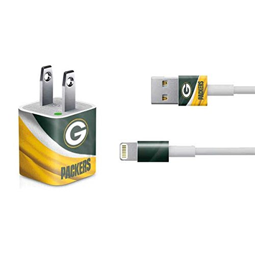 Skinit Decal Skin for iPhone Charger (5W USB) - Officially Licensed NFL Green Bay Packers Design