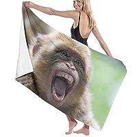 バスタオルおかしい大きな口のビーチホリデー子供のための超柔らかい特大タオル手ぬぐいプールサーフ