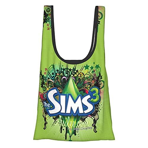 ザ・シムズ The Sims (3) 人気 エコバッグ 雑貨 ショッピングバッグ 携帯に便利である エコバッグ 大容量 スーパー買い物袋 防水 折りたたみ買い物袋 軽量 買い物袋